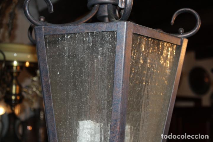 Antigüedades: farol de techo hierro - Foto 2 - 228573355
