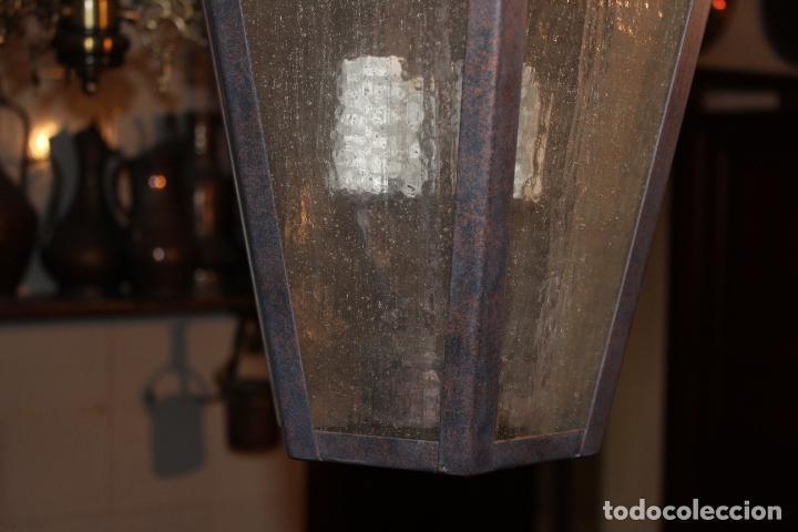Antigüedades: farol de techo hierro - Foto 3 - 228573355