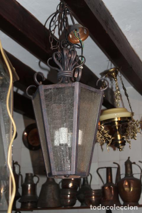 Antigüedades: farol de techo hierro - Foto 5 - 228573355
