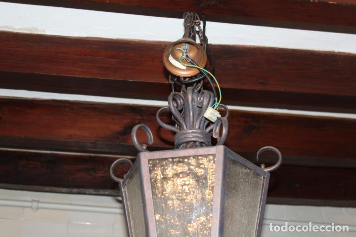 Antigüedades: farol de techo hierro - Foto 6 - 228573355