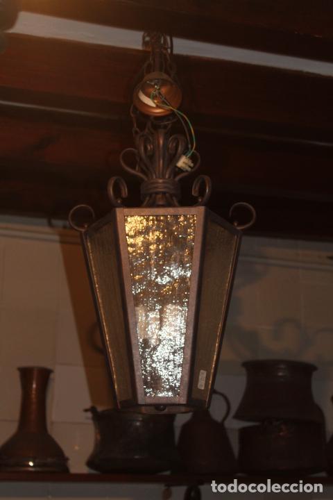 FAROL DE TECHO HIERRO (Antigüedades - Iluminación - Lámparas Antiguas)