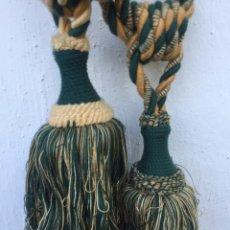 Antigüedades: PAREJA DE BORLONES ANTIGUOS. Lote 228576425