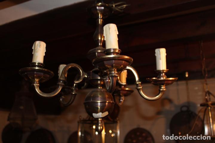 Antigüedades: lampata de techo tipo holandesa - Foto 6 - 228579102