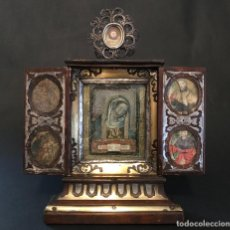 Antigüedades: PRECIOSO RELICARIO A MODO DE CAPILLA DE ESTILO BOULLÉ DEL SIGLO XVIII. Lote 228600630