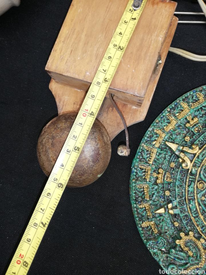 Antigüedades: ANTIGUO TIMBRE DE METAL Y MADERA - Foto 2 - 228629092