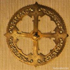 Antigüedades: ANTIGUA CORONA DE BRONCE PARA IMAGEN RELIGIOSA DE 11 CMS. Lote 228629783