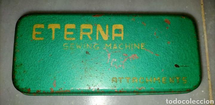 Antigüedades: Caja SEWING MACHINE - Foto 6 - 228662840