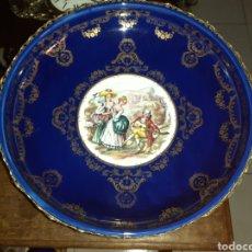 Antigüedades: FUENTE DE PORCELANA Y METAL, ITALIA, GRANDE VER FOTOS. Lote 228715635