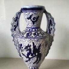 Antigüedades: ANTIGUA ÁNFORA O JARRÓN DE TALAVERA. Lote 228761885