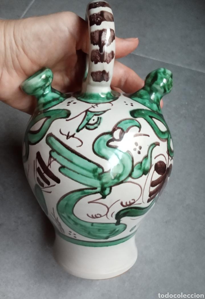 BOTIJO DE CERÁMICA TERUEL FIRMADO PUNTER 52-2 (Antigüedades - Porcelanas y Cerámicas - Teruel)