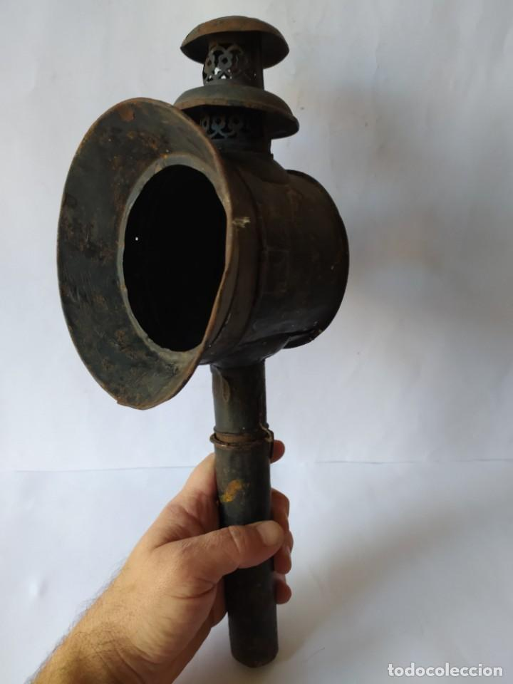 ANTIGUO FAROL DE CARRUAJE. (Antigüedades - Iluminación - Faroles Antiguos)