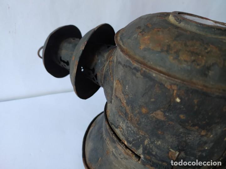 Antigüedades: ANTIGUO FAROL DE CARRUAJE. - Foto 10 - 228788905