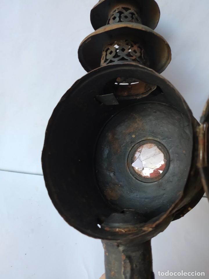 Antigüedades: ANTIGUO FAROL DE CARRUAJE. - Foto 11 - 228788905