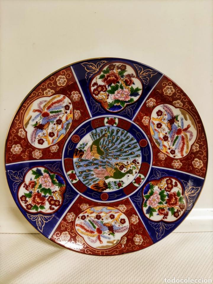 PLATO PORCELANA CHINO (Antigüedades - Hogar y Decoración - Platos Antiguos)