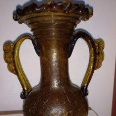 Antigüedades: JARRÓN VIDRIO GORDOLA ARTESANÍA MALLORQUINA. Lote 228844110