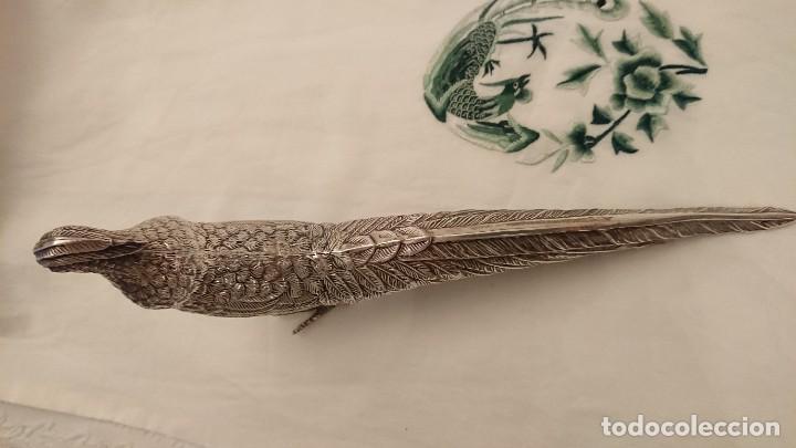 Antigüedades: PAVO REAL. SIN PUNZONES APARENTES. ESPAÑA. SOBRE 1950 - Foto 4 - 228856875