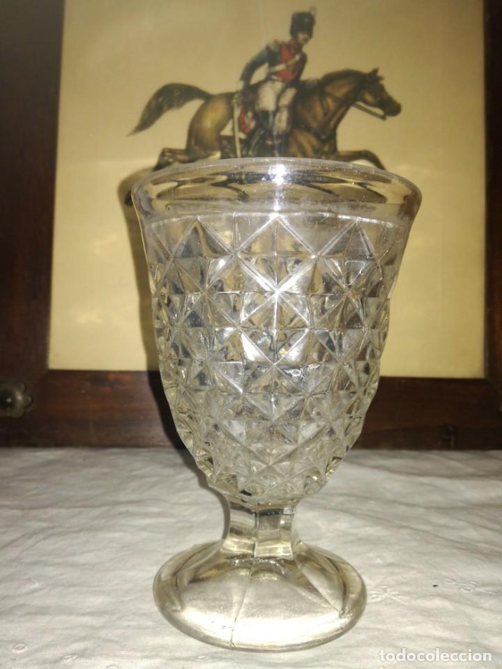 ANTIGUA COPA CRISTAL SANTA LUCÍA CARTAGENA (Antigüedades - Cristal y Vidrio - Santa Lucía de Cartagena)