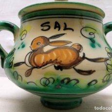 Antigüedades: SALERO DE CERÁMICA DE PUENTE DEL ARZOBISPO.. Lote 228900150