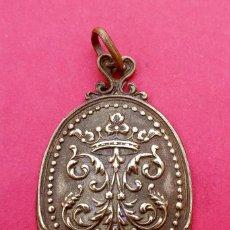 Antigüedades: MEDALLA ANTIGUA ANAGRAMA DE LA VIRGEN MARÍA.. Lote 228910745