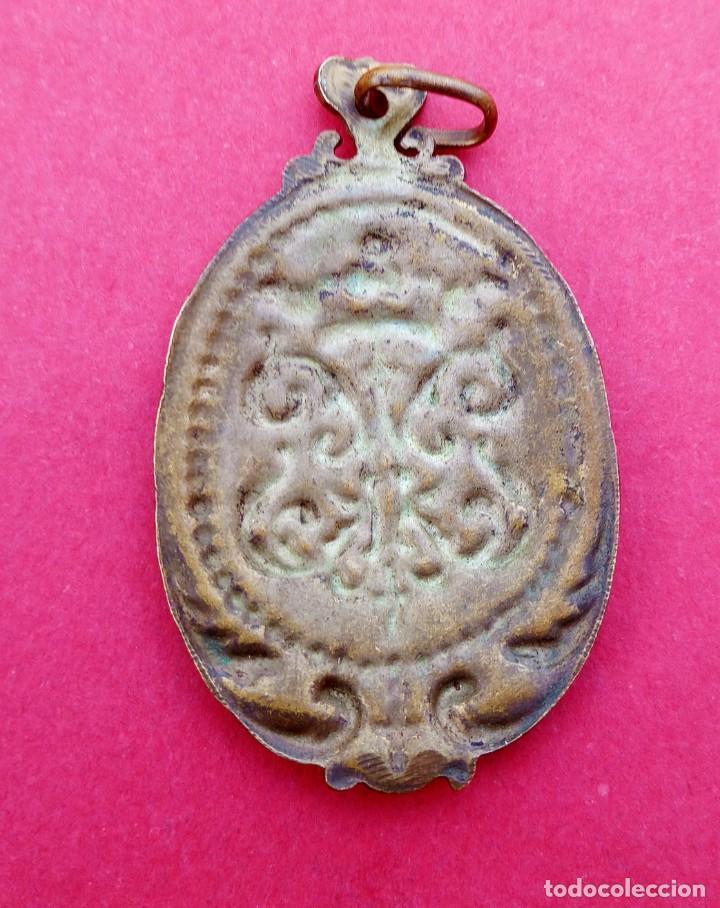 Antigüedades: Medalla Antigua Anagrama de la Virgen María. - Foto 2 - 228910745
