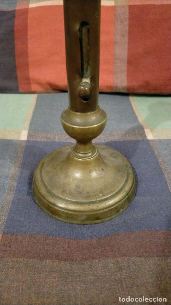 Antigüedades: PORTAVELAS DE BRONCE DEL SIGLO XIX, 21 X 10.2 - Foto 3 - 228934955