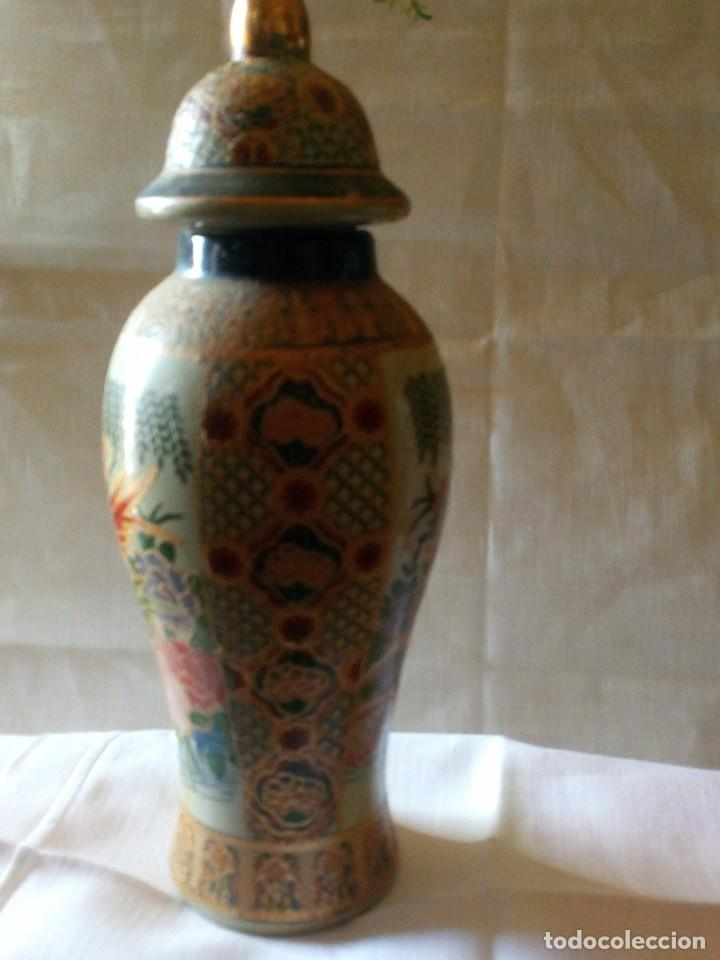 Antigüedades: ~~~~ DECORATIVO TIBOR DE PORCELANA ESTILO SATSUMA, MIDE 24 X 9 CM.~~~~ - Foto 2 - 229011255