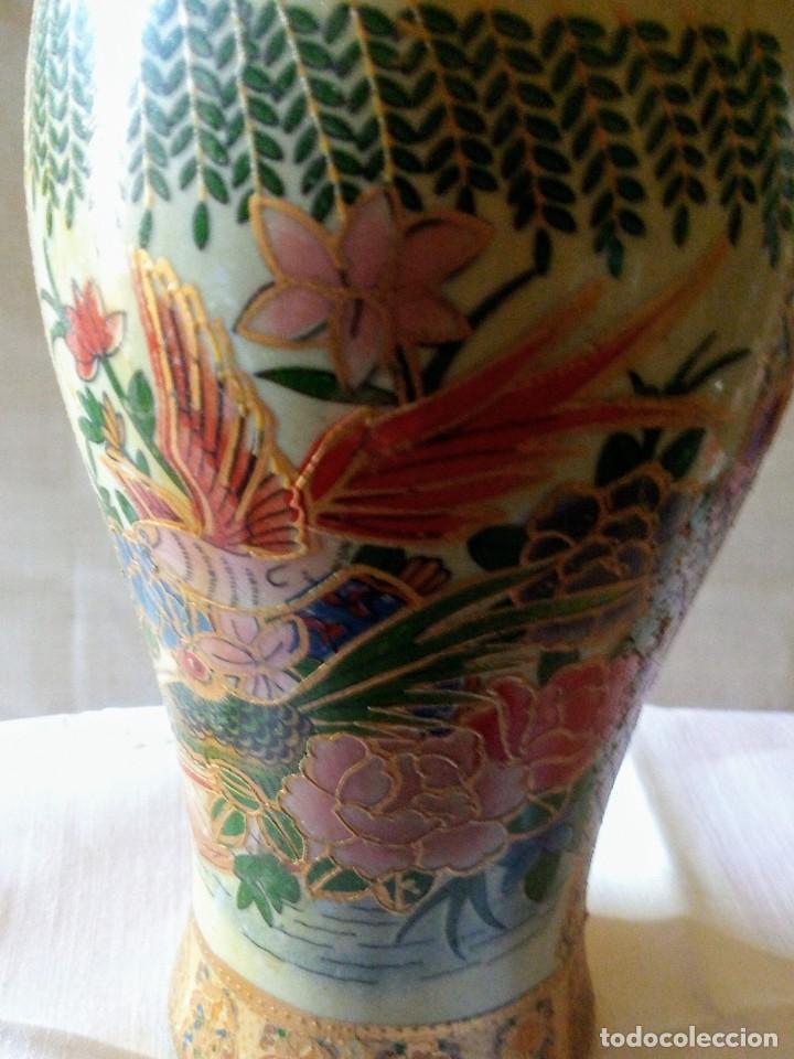 ~~~~ DECORATIVO TIBOR DE PORCELANA ESTILO SATSUMA, MIDE 24 X 9 CM.~~~~ (Antigüedades - Porcelana y Cerámica - Japón)