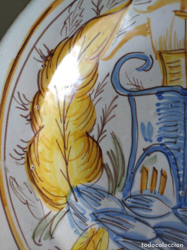 Antigüedades: Ribesalbes, rotundo plato Siglo XIX serie Arquitectura , 35 cm de diámetro - Foto 4 - 229019200