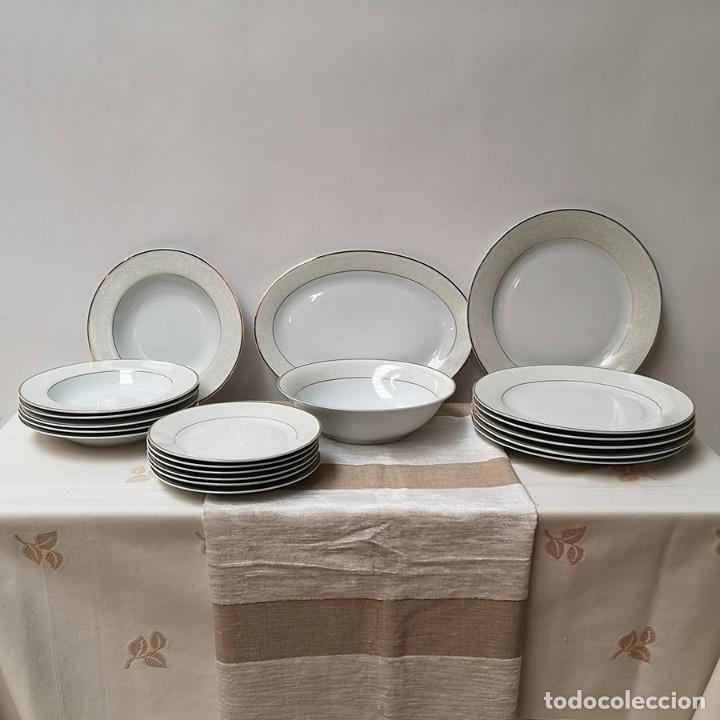 JUEGO VAJILLA DE SEIS CUBIERTOS (Antigüedades - Porcelanas y Cerámicas - Inglesa, Bristol y Otros)
