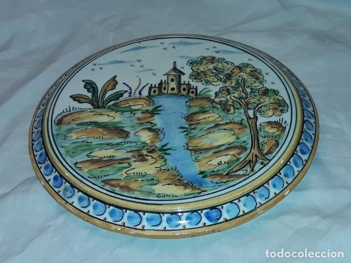 PRECIOSO SALVAMANTELES DE CERÁMICA 24,50CM (Antigüedades - Porcelanas y Cerámicas - Puente del Arzobispo )