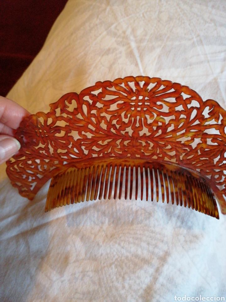 Antigüedades: Delicada y fina peina de diadema tallada a mano - Foto 2 - 229073795