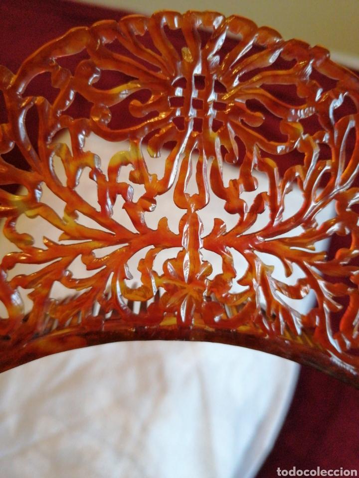Antigüedades: Delicada y fina peina de diadema tallada a mano - Foto 3 - 229073795