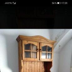 Antigüedades: MUEBLE COMEDOR CON MESA Y 8 SILLAS. Lote 229074730