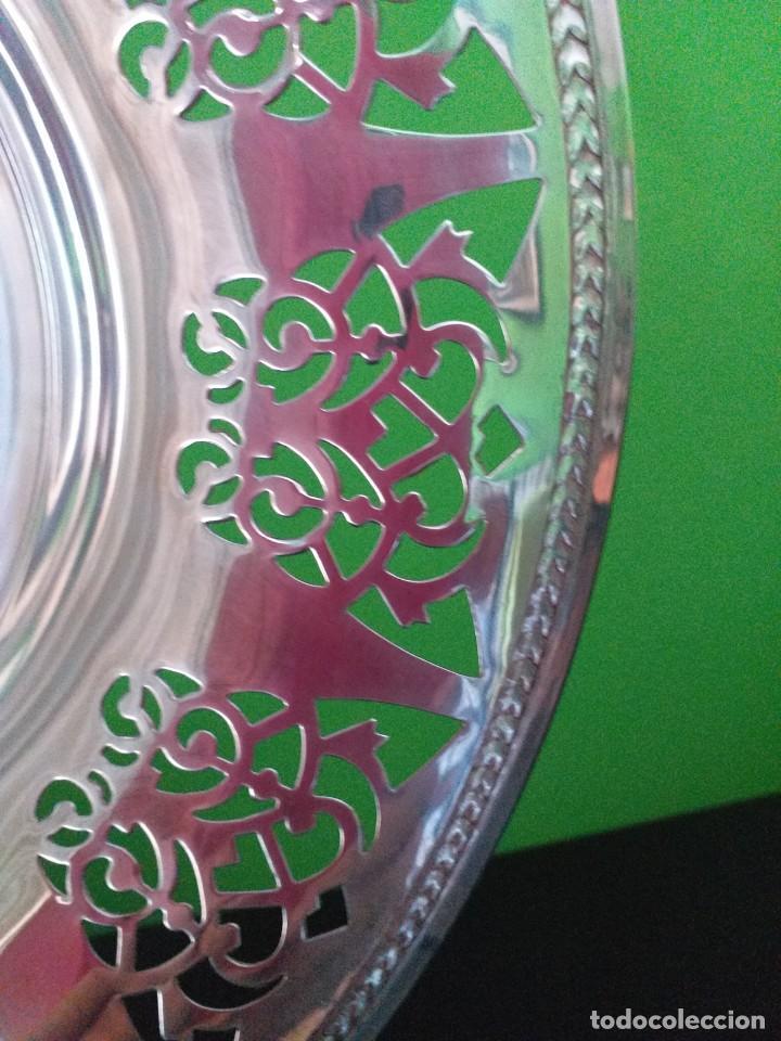 Antigüedades: fuente de metal plateado - Foto 3 - 229094425