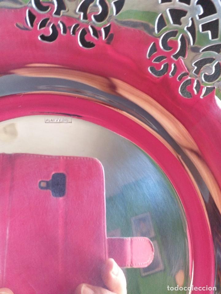 Antigüedades: fuente de metal plateado - Foto 4 - 229094425