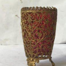Antigüedades: ANTIGUO JARRON EN FILIGRANA , SIGLO XIX. Lote 229103105
