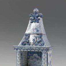 Antiquités: CHIMENEA DELFT SIGLO XIX POCELANA 37X 20 X 11 CM. Lote 229111390
