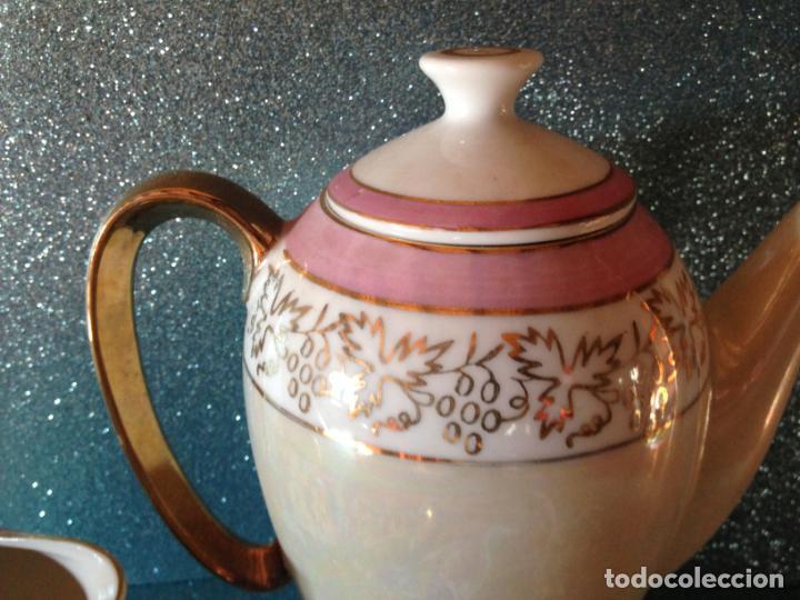 Antigüedades: JUEGO DE CAFE TU Y YO CON SERVICIO DE REPUESTO PORCELANA JAPONESA - Foto 3 - 229121865