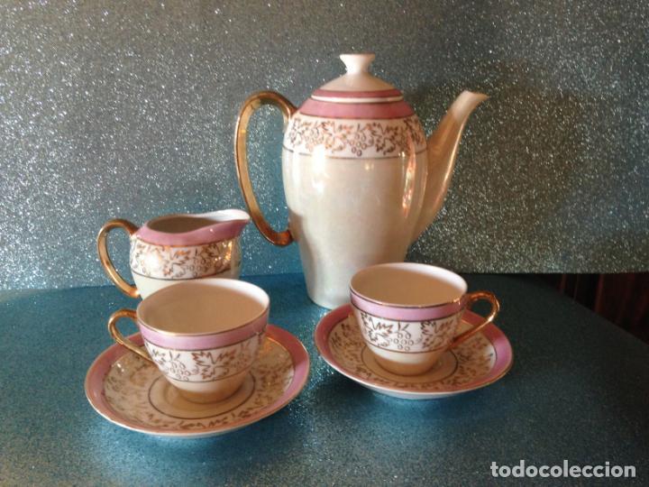 JUEGO DE CAFE TU Y YO CON SERVICIO DE REPUESTO PORCELANA JAPONESA (Antigüedades - Porcelana y Cerámica - Japón)