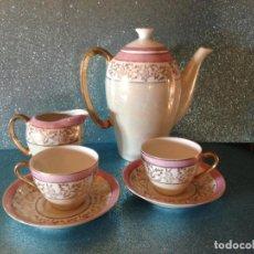 Antigüedades: JUEGO DE CAFE TU Y YO CON SERVICIO DE REPUESTO PORCELANA JAPONESA. Lote 229121865