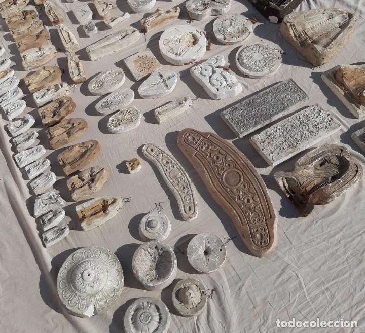Antigüedades: Moldes escayola. Para orfebrería. Semana santa. Iglesia. Santo. Virgen - Foto 3 - 229123225