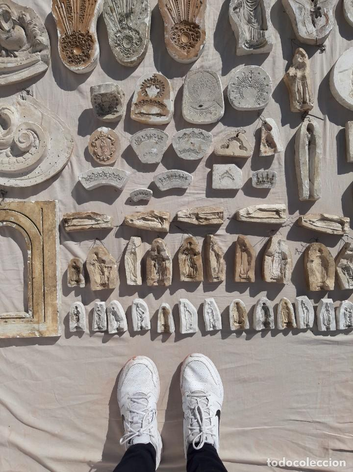 Antigüedades: Moldes escayola. Para orfebrería. Semana santa. Iglesia. Santo. Virgen - Foto 5 - 229123225