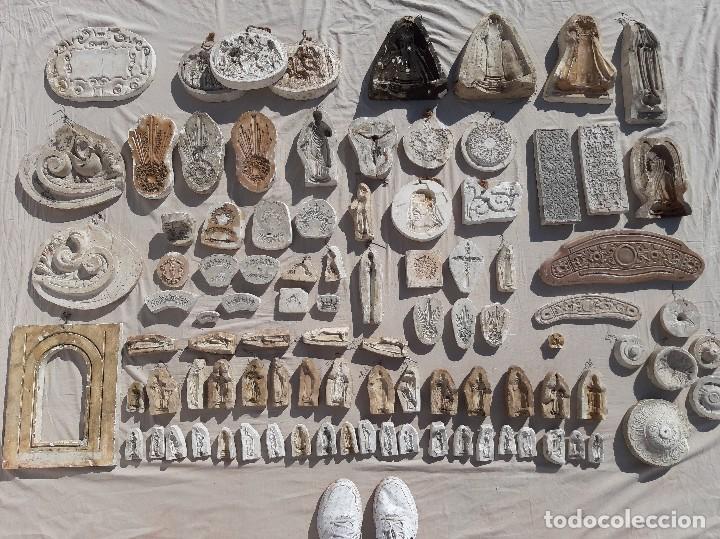 Antigüedades: Moldes escayola. Para orfebrería. Semana santa. Iglesia. Santo. Virgen - Foto 6 - 229123225