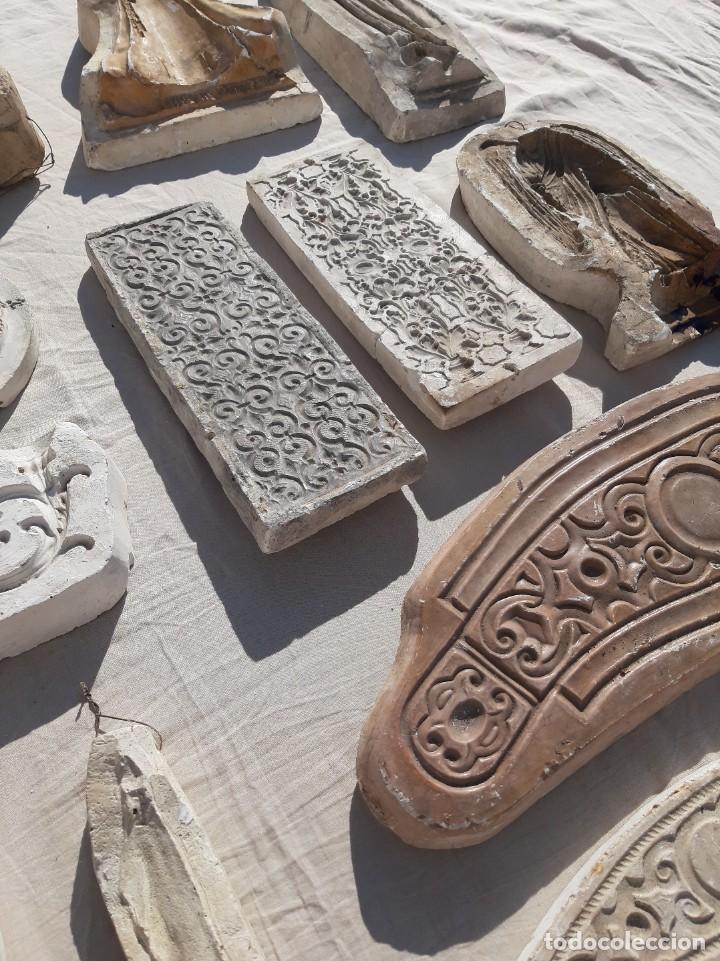 Antigüedades: Moldes escayola. Para orfebrería. Semana santa. Iglesia. Santo. Virgen - Foto 7 - 229123225