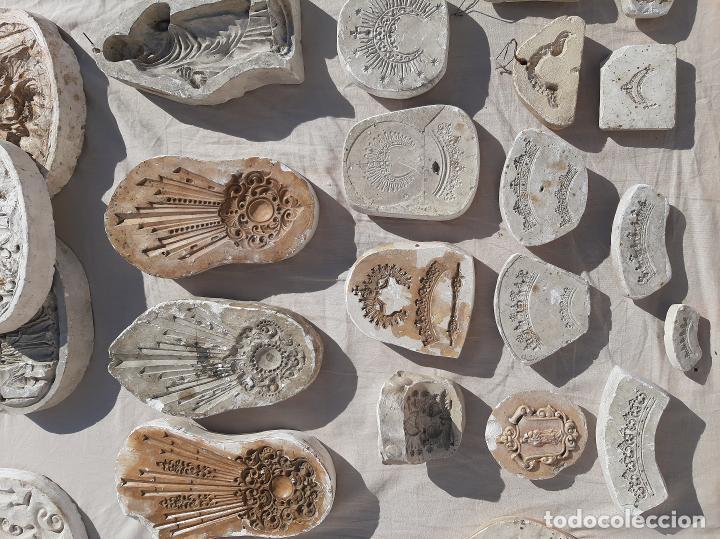Antigüedades: Moldes escayola. Para orfebrería. Semana santa. Iglesia. Santo. Virgen - Foto 9 - 229123225