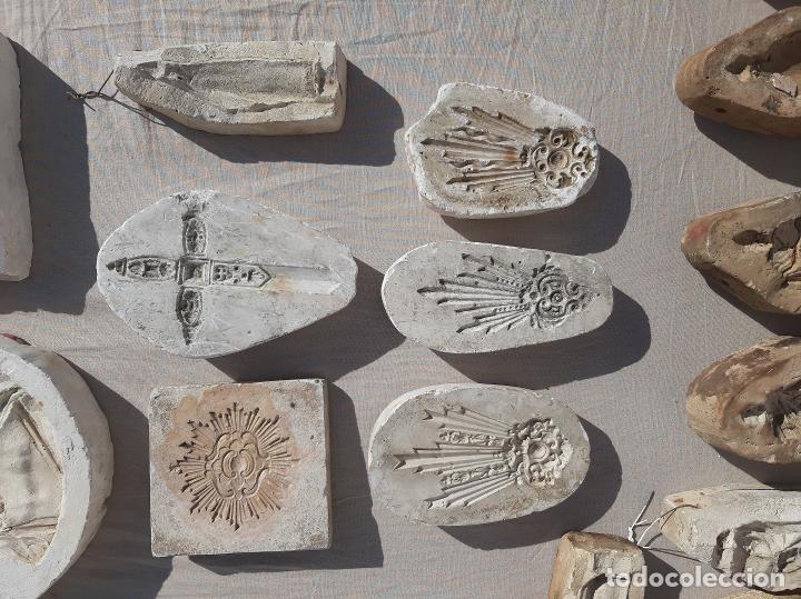 Antigüedades: Moldes escayola. Para orfebrería. Semana santa. Iglesia. Santo. Virgen - Foto 10 - 229123225