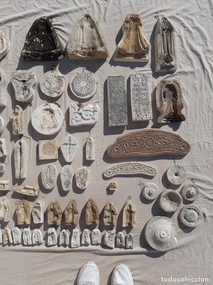 Antigüedades: Moldes escayola. Para orfebrería. Semana santa. Iglesia. Santo. Virgen - Foto 14 - 229123225