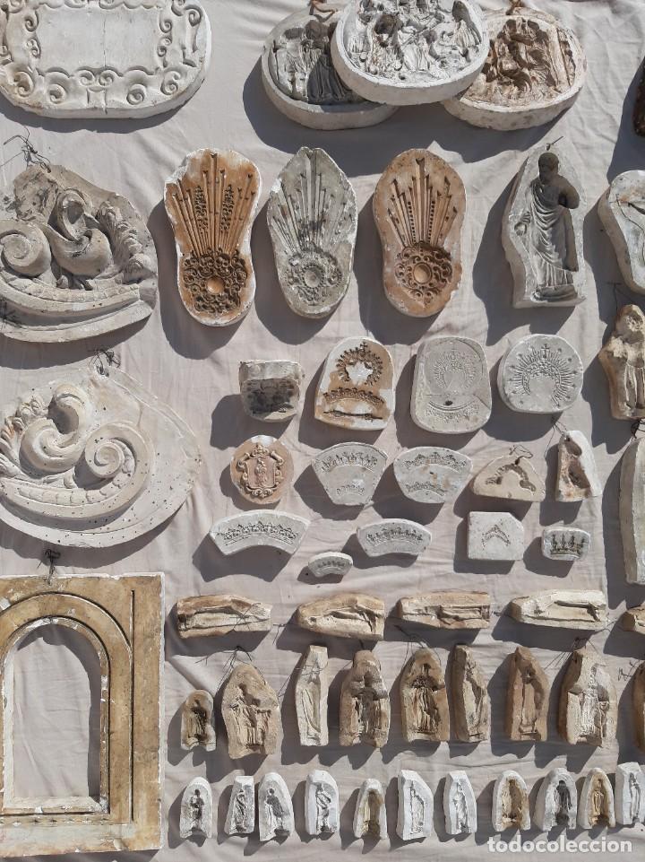 Antigüedades: Moldes escayola. Para orfebrería. Semana santa. Iglesia. Santo. Virgen - Foto 16 - 229123225