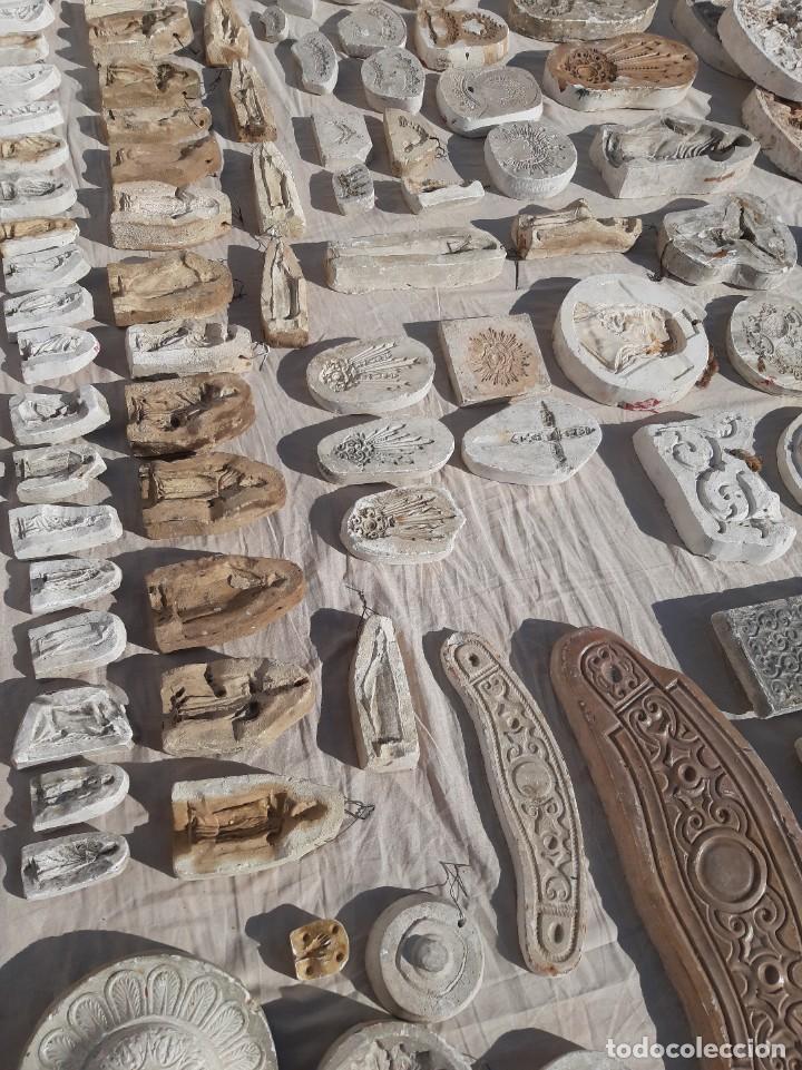 Antigüedades: Moldes escayola. Para orfebrería. Semana santa. Iglesia. Santo. Virgen - Foto 19 - 229123225