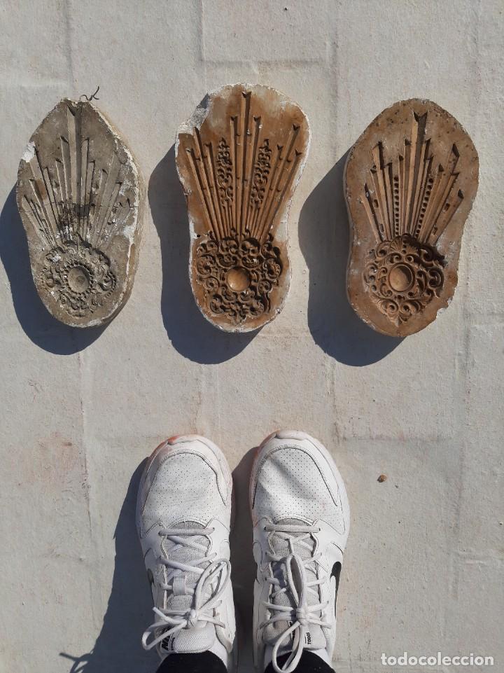 Antigüedades: Moldes escayola. Para orfebrería. Semana santa. Iglesia. Santo. Virgen - Foto 22 - 229123225